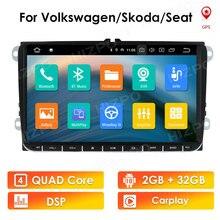 Android 10 Car Multimedia Player for Volkswagen VW Polo Golf Passat Tiguan 2007-2013 Skoda Yeti Superb Seat Altea Leon Gps Navi