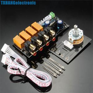 Seletor de Sinal de Entrada de áudio Placa de Relé/Sinal de Comutação Amplificador Board + RCA