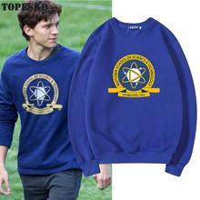 TOPESKO Tom Holland Men Women Hoodies Science Technology School Print Streetwear Homme Unisex Sweatshirt