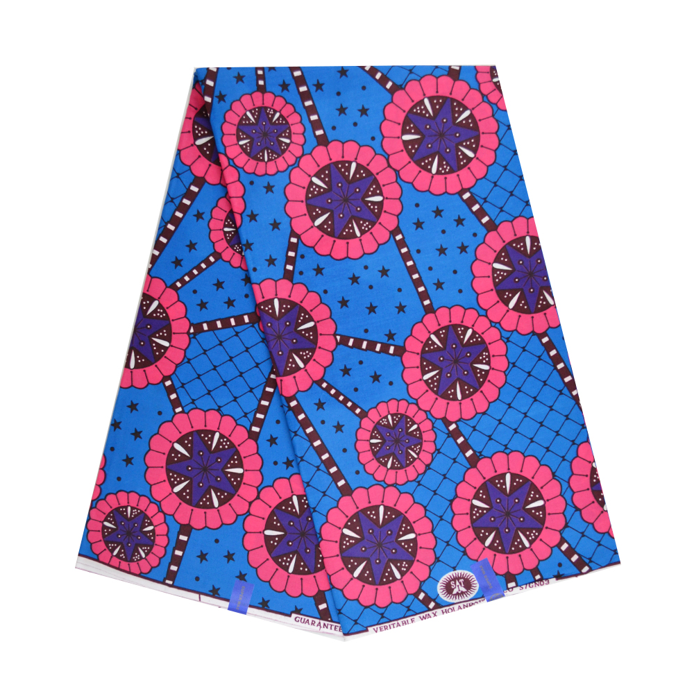 1 Yard African Wax Prints Kente Fabric High Quality Cotton Ankara Wax Fabrics For Dress Materials African Pange Wax Batik Cloth