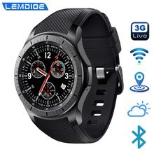 LF16 3G Smart Watch Android 5.1 GPS Heart Rate Monitor ROM 8GB Bluetooth WIFI Weather Update Independent Call Smartwatch For Men 2017 new fashion 3g wcdma android watch phone z01 heart rate monitor smartwatch with gps wifi 512m ram 4g rom camera wristwatch