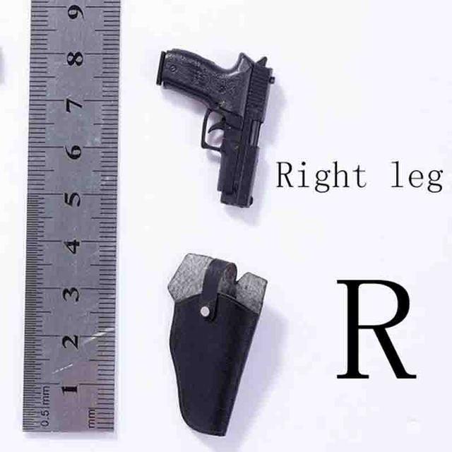 Pistol /& Leather Shoulder Holster Spy Killer 1//6 Scale Vortoys Action Figure