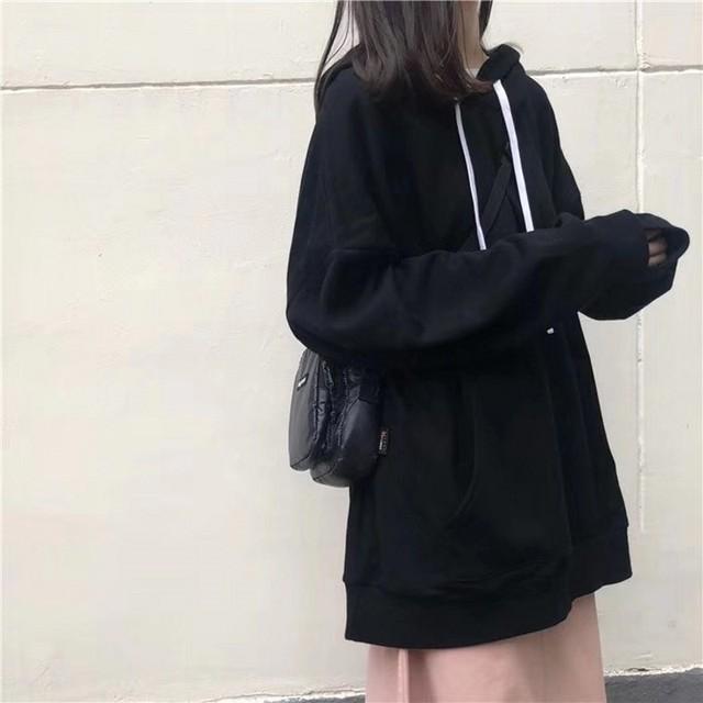 casual hoodie for men and women spring and autumn hoodie solid color top hip hop street wear sweatshirts skateboard hoodies
