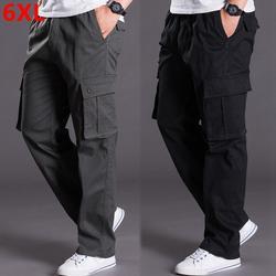 Осенние и зимние большие размеры толстые XL мужские брюки комбинезоны свободные брюки карман плюс размер мужские повседневные брюки