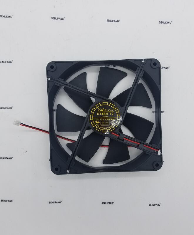 For Yate Loon D14SH-12 DC 12V 0.70A 140x140x25mm 2-Wire Server Cooler Fan