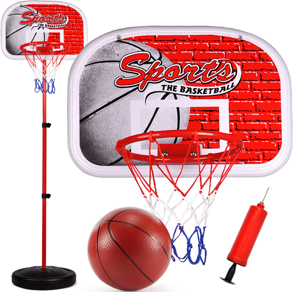 Set of Mini Basketball Net Stand Family Indoor Outdoor Kid Game Adjustable