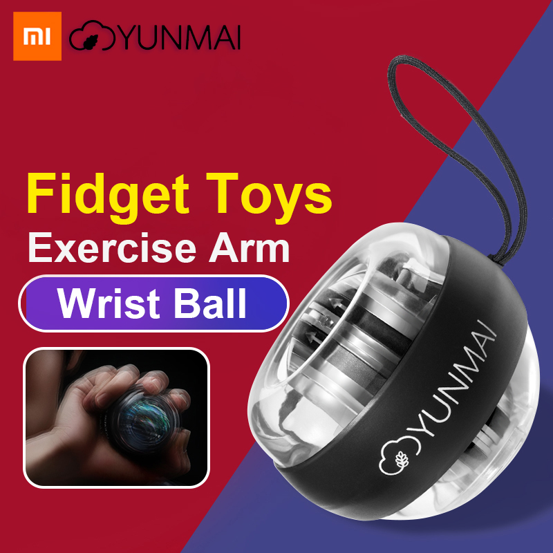 Xiao mi mi jia Yunmai Anti-stress Handgelenk Trainer LED Gyroball Ätherisches Spinner Kreiselsicherheitssensor Unterarm Exerciser Gyro Ball mi home Kit