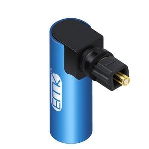 Image 5 - EMK Adaptador de Cable de sonido óptico de 90 grados, ángulo recto, conector óptico SPDIF Toslink, giratorio 360 para Soundbox