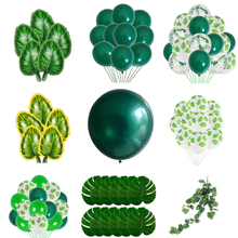 Latex Balloon Green Balloons Woodland Animal Palm Leaf Foil