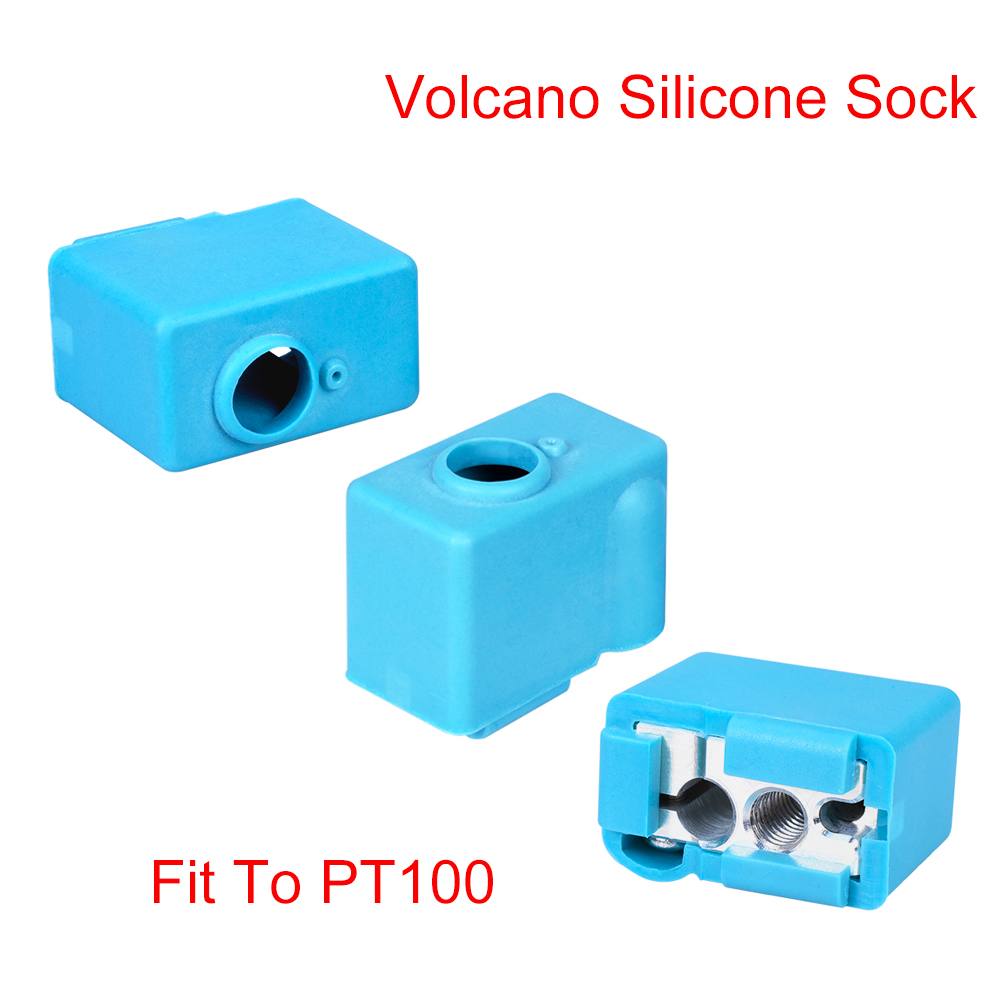 Volcano Silicone Sock Insulation Cover Fit To Volcano Heater Block PT100 For J-head Hotend Extruder Nozzle 3D Printer Parts