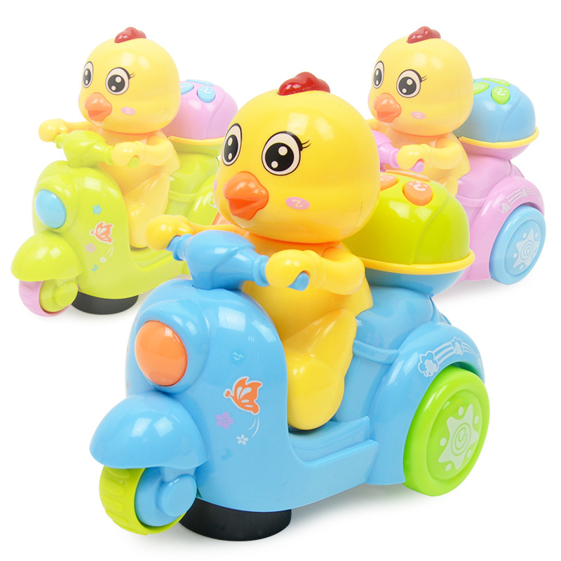 Chickens Motorcycle Electromobile Electric Light And Sound Story Early Childhood Educational CHILDREN'S Toy
