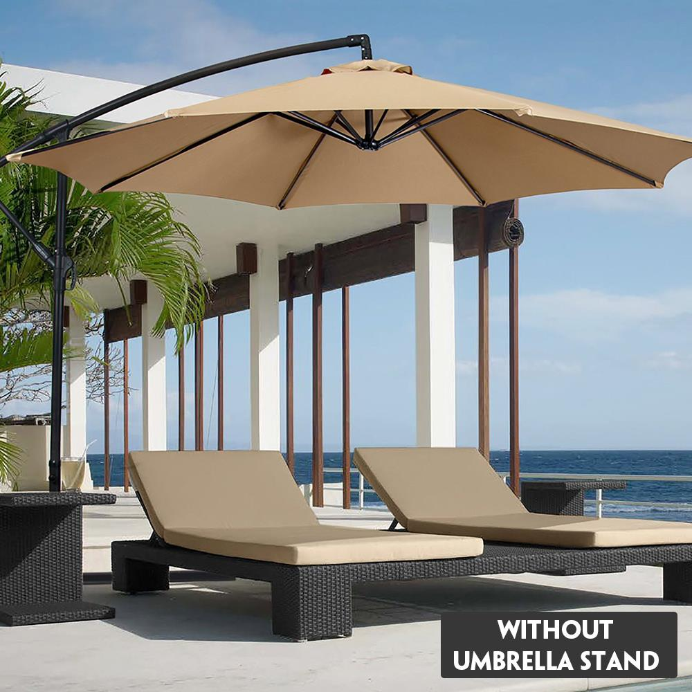 2M UV-Resistant Sunshade Umbrella Cover Umbrella Canopy Cover  Parasol Cover Waterproof Beach Garden Hexagon Shape Awning NO Sta 1