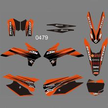 FOR KTM 125 150 200 250 300 350 450F SX XC 2013 2014 Full Graphics Decals Stickers Custom Number Name Glossy Bright Stickers new style team graphics with matching backgrounds decals stickers for ktm exc 125 200 250 300 350 450 500 2012 2013 xc 2011