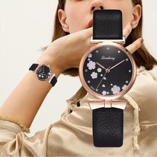 Charming Watches Women 2019 Fashion Leather Strap Flower Female Clock Ladies Quartz Wrist Watch Montre Femme Relogio Feminino