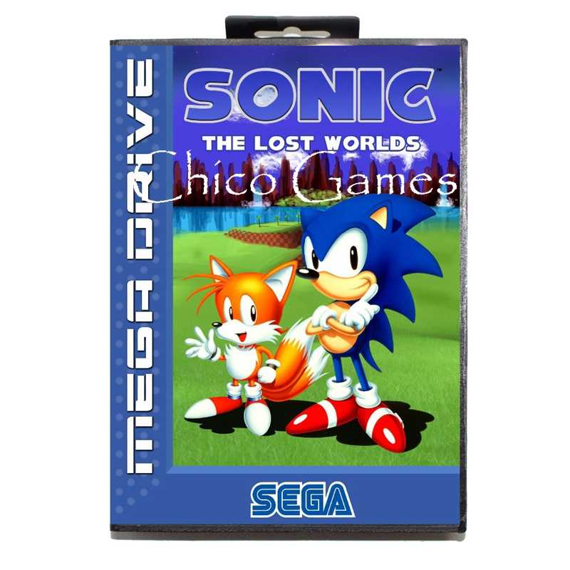 Sega Md Games Card Sonic The Hedgehog The Lost Worlds Eu Cover For Sega Megadrive Video Game Console 16 Bit Md Card Aliexpress