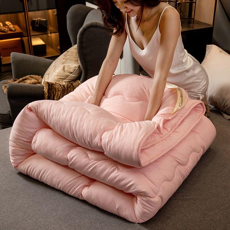 High Quality Winter/summer Mulberry Silk Comforter Duvet New Style Quilt Blanket Hot Sales Winter Warm Thick Blanket/comforter