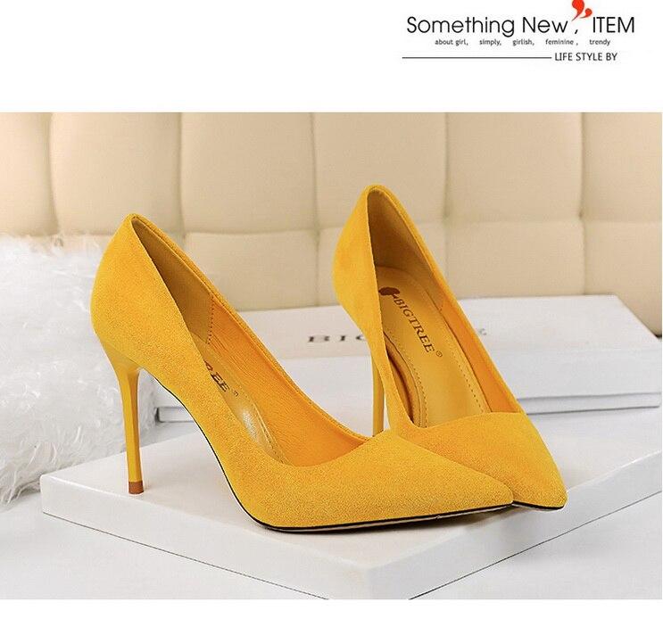 Bigtree sapatos femininos de salto alto, calçado