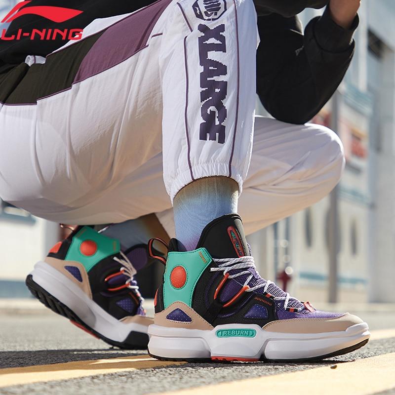 Li-Ning Men REBURN 2.0 EZ-FIT Basketball Culture Shoes High-Cut Anti-Slip LiNing Li Ning Sport Shoes Sneakers AGBQ011 XYL308
