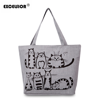 EXCELSIOR Cat Print Bag Womens Handbags for Women 2020 Shoulder Purse Bolsa Feminina sac bandouliere femme Sac a Main