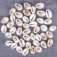 Cuentas sueltas de concha de mar Natural para decoración del hogar, accesorios de joyería con conchas artesanales, (20-23mm) /(18-20mm), 50 Uds.