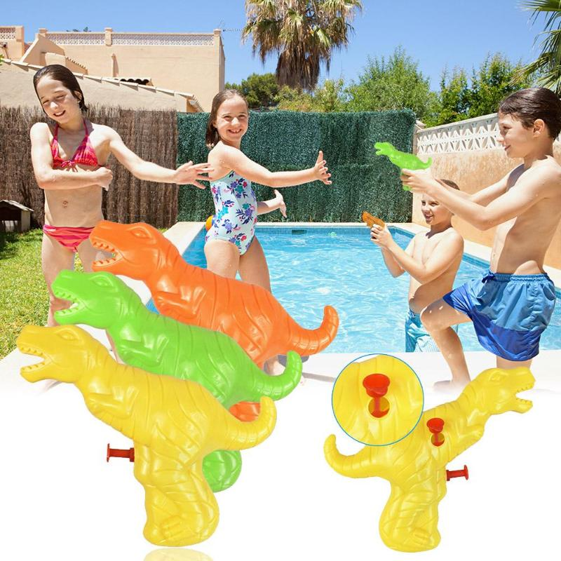 Summer Kids Dinosaur Shape Outdoors Beach Bathing Water Gun Spraying Toys Water Gun Dinosaur Model Play Water Funny Toys