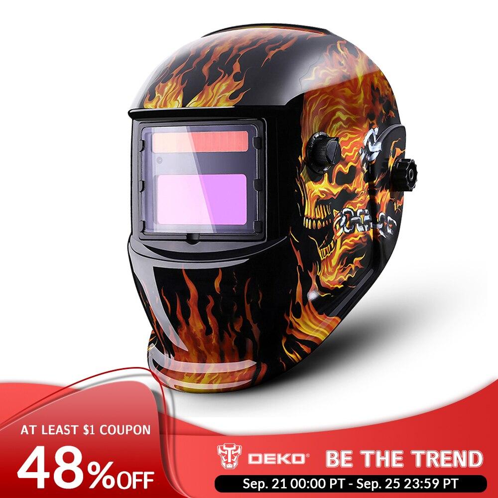 DEKO Helmet Welding-Lens MMA MIG Auto Darkening Range Electric Adjustable