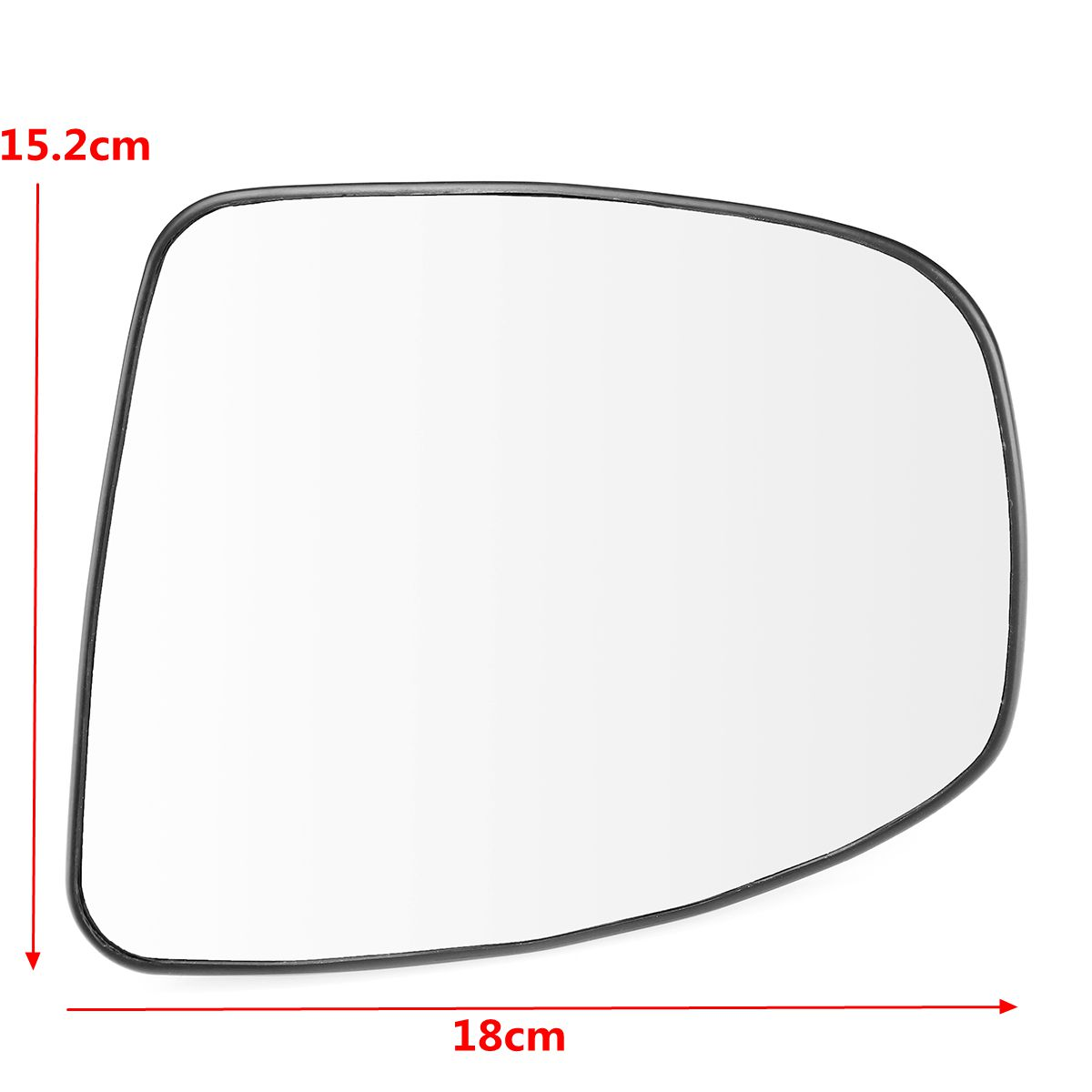PLATE LEFT FITS NISSAN PATHFINDER R51 05-13 WING MIRROR GLASS WIDE ANGLE HEATED