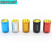 4Pcs/Lot New Aluminum Universal Car Tyre Air Valve Caps Smiling Face Frosted Tire Valve Caps цена