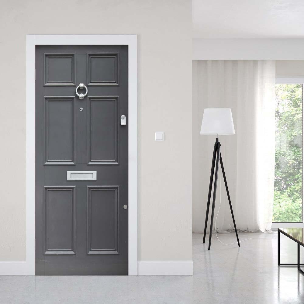Print Art Picture 3D Door Sticker DIY Simple Creative Home Decored Decals Self Adhesive Waterproof Mural For Bedroom Renovation