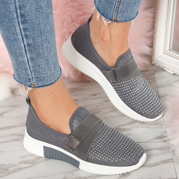 Women's Flats Mesh Vulcanized Shoes Woman Outdoor Women Casual Shoes Breathable Sneakers Ladies Slip On Female Plus Size 43 cootelili women sneakers platform casual shoes woman flats slip on letter loafers ladies black gray blue red plus size 40 41 42