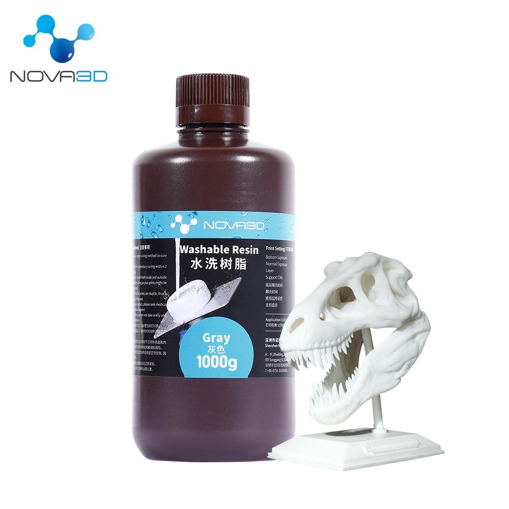 NOVA3D вода моющаяся Резина 3d Принтер LCD 405nm UV Смола 500g чувствительный жидкий фотополимерный принтер impresora 3d Смола phrozen