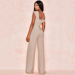 Image 5 - 2020 Autumn New Womens Orange Set Tops Wide Leg Pants Set 2 Pieces Two Piece Set Tops + Pants Club Party Bodycon Bandage Set