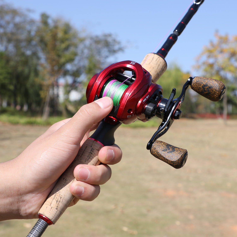 Sougayilang 2.1m 2.4 fundição vara de pesca
