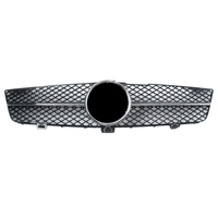 Car Front Grille Upper Mesh Grill For Mercedes Benz C219 CLS Class W219 CLS350 CLS500 2008 2009 2010 2011 Chrome Black