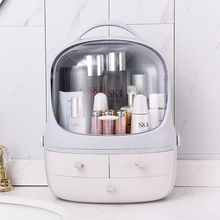 Jewelry Box Plastic Multifunctional Dust-proof Cosmetic Storage Drawer Transparent Portable