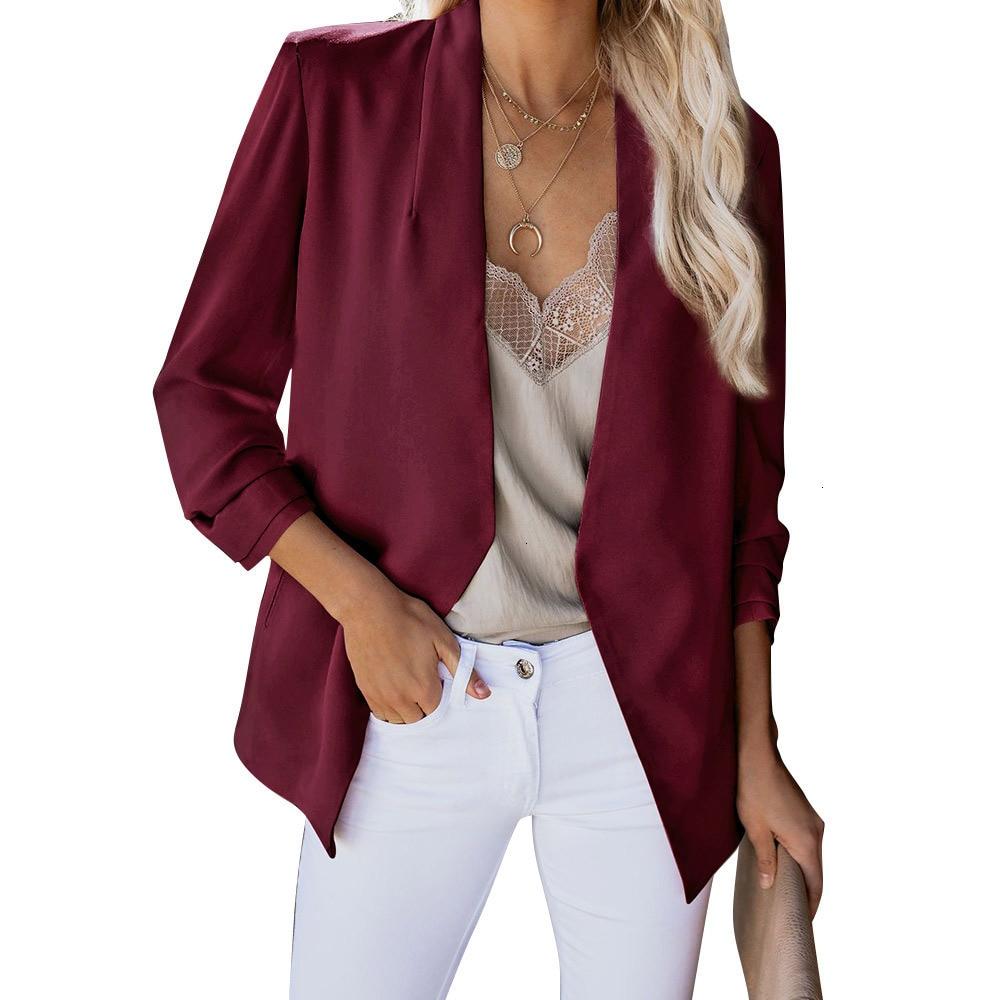 2019 Retrieve Fashion Blazer Jas Women Pack European Work OL Dunne Pack Blazer Long Mouths Mujer Blazer Top Clothing New LU1029