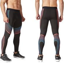 Компрессионные штаны для футбола, баскетбола, леггинсы, спортивные колготки для бега, мужские Леггинсы для бега, бодибилдинга, фитнеса, тренажерного зала, йоги, одежда