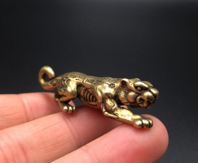 China's Brass Tiger Small Statuette