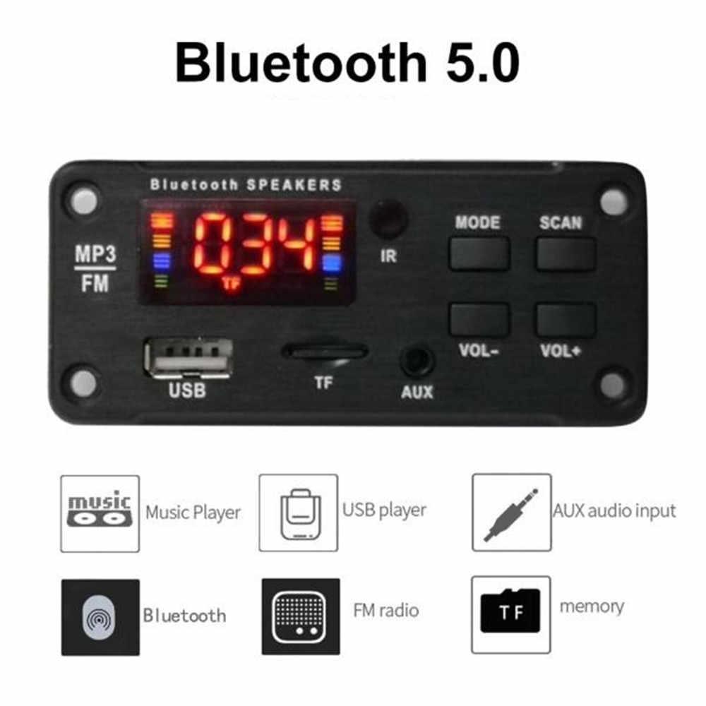 カラー画面 12V MP3 WMA ワイヤレス Bluetooth 5.0 デコーダボードオーディオモジュール USB FM TF ラジオ AUX 入力なしアンプのための車