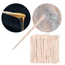 100 шт 88 мм Одноразовые Деревянные восковые палочки для вытирания восковых бобов инструмент для удаления волос на теле косметический стерже...