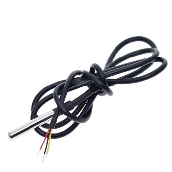 DS18B20 czujnik temperatury ze stali nierdzewnej pakiet IP68 wodoodporna DS1820 czujnik temperatury 18B20 kabel do Arduino czujniki tanie i dobre opinie KinCony CN (pochodzenie) DC 3 V -55 ~ 120 ℃ Digital Sensor Hall Sensor