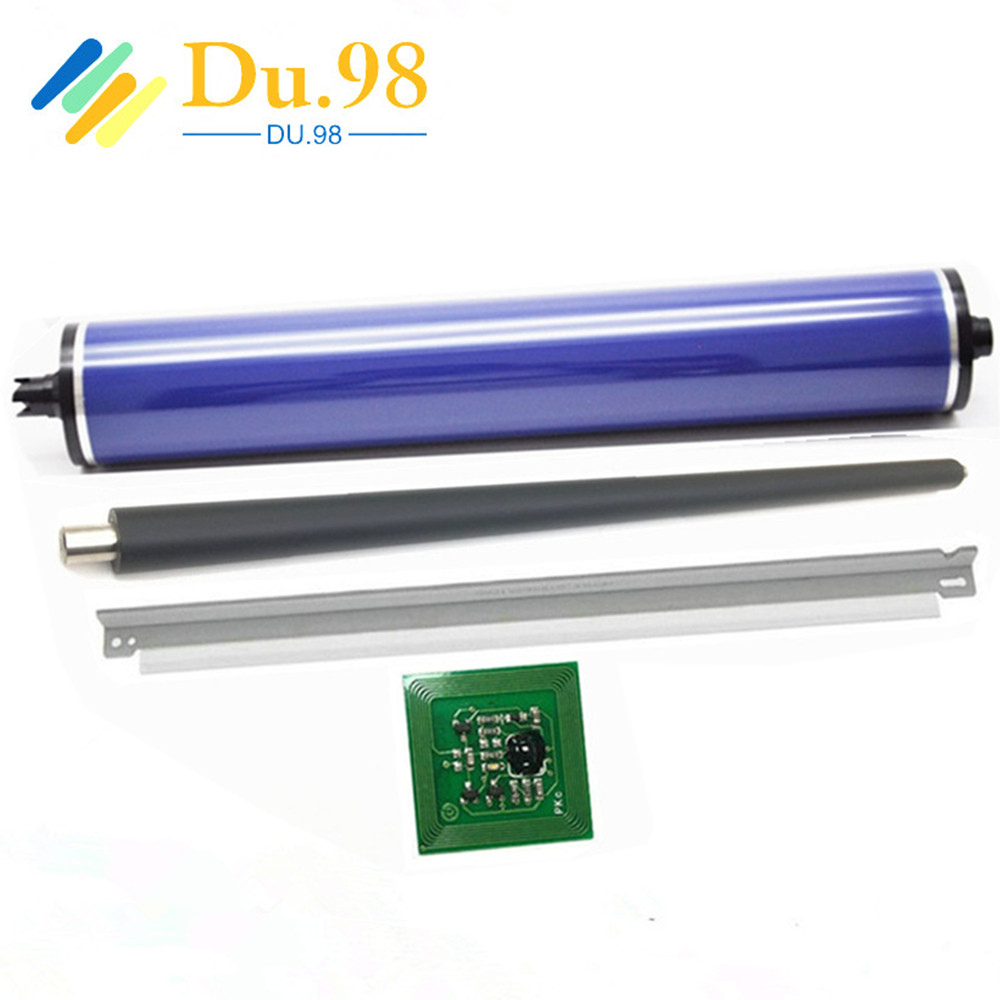 1Set PCR Primary Charge Roller+013R00663 013R00664 Drum Unit Chip+Cleaning Blade+OPC Drum For <font><b>Xerox</b></font> Color 550 560 <font><b>C550</b></font> C560 image