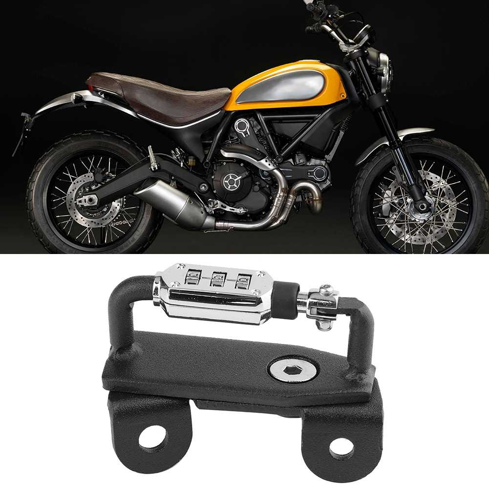 Motorcycle Helmet Lock Anti-Theft Combination PIN Locking Secures For Ducati Scrambler Sixty//Icon//Urban Enduro 2015-2019