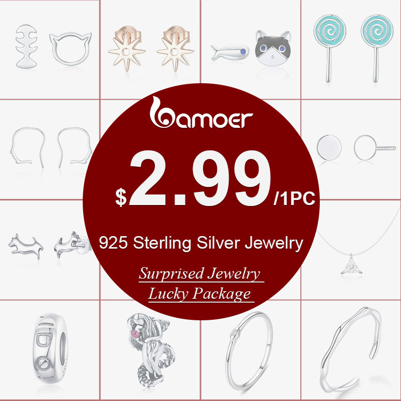 Lucky Package 925 Sterling  Silver Jewelry Start From $2.99