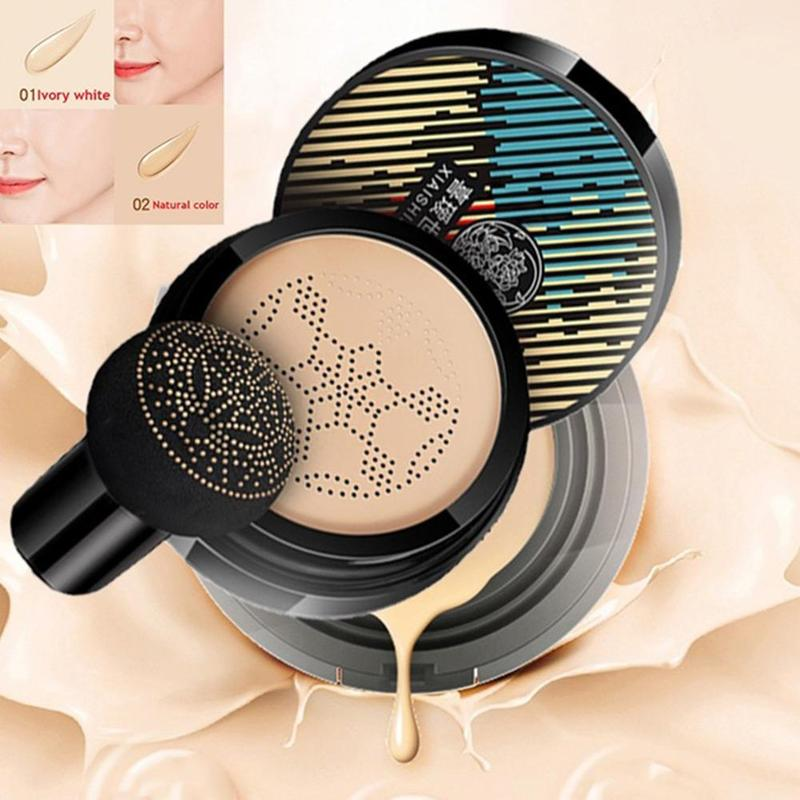 Mushroom Head Air Cushion Makeup Foundation Moisturizing Oil Control Cc Cream Natural Whitening Conceale Brightening Make Up
