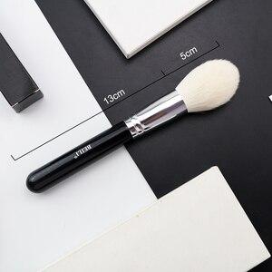 Image 2 - Beili黒ビッグパウダーメークアップブラシ本当にソフトハイライトシングルグリッターハンドルプロウール繊維ブラシ美容ツール
