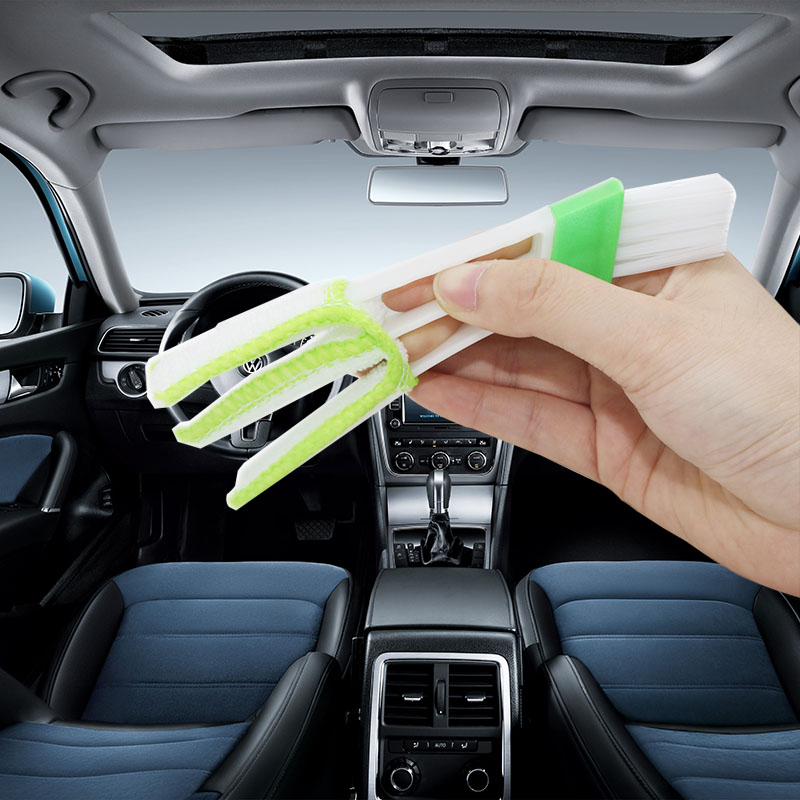 1 Pcs Long Durable 2 In 1 Double Slider Car Air-conditioner Outlet Cleaning Tool Outlet Window Cleaning Multi-purpose Brush