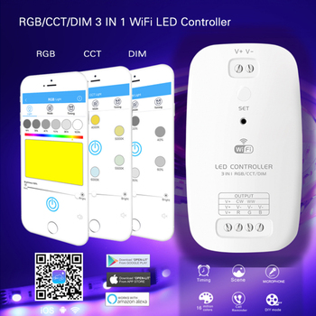 New 3 in 1 Wifi led controller DIM/RGB/CCT smart led Strip Light Controller Compatible with Alexa Assistant for An iOS System