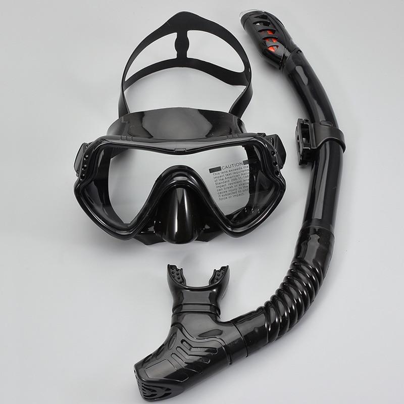 Маска для подводного плавания, незапотевающая ударопрочная Полнолицевая маска для дайвинга с клапаном очистки, водонепроницаемое Оборудо...
