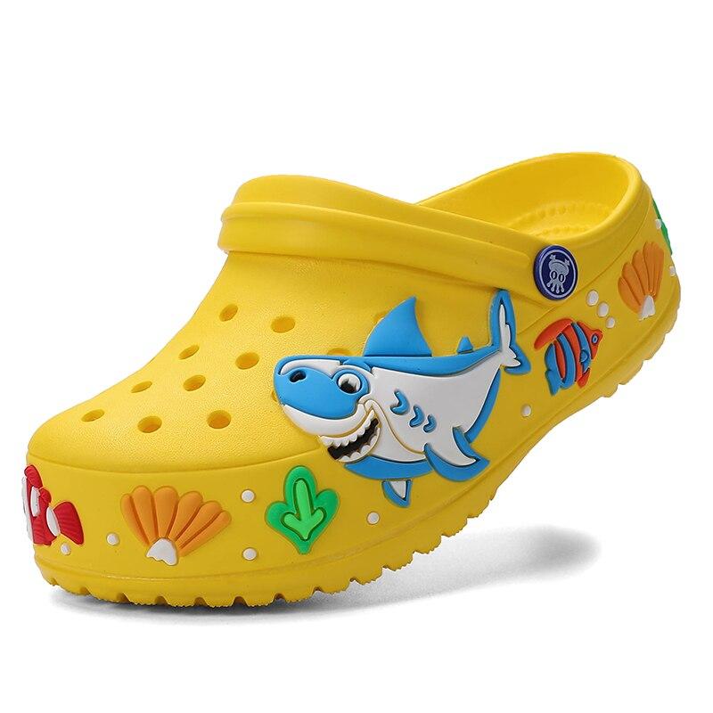 Kid Shoes Older Infant Baby Kids Girl Boys Home Slippers Cartoon Floor Shoes Sandals Mini Kid Sandals Breath Summer Soft Shoes